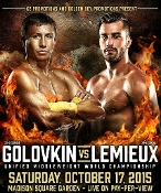 Gennady Golovkin vs. David Lemieux HD Blu-Ray