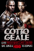 Miguel Cotto vs. Daniel Geale HD Blu-Ray