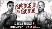 Errol Spence Jr. vs. Leonard Bundu HD Blu-Ray